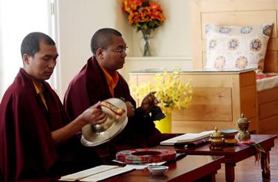 Ven. Acarya Namdrol Gyatso and Ven. Thrinley Gyaltsen