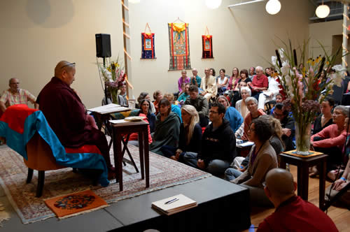 Jetsün Khandro Rinpoche teaching at Osel Ling
