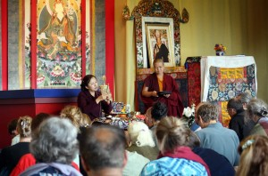 Jetsün Dechen Paldron teaching during the Annual Retreat.