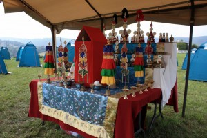 The shrine at the center of the encampment.