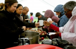 The Padma team serves a meal during the Annual Retreat.
