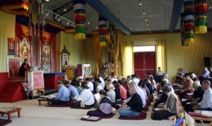 Jetsün Khandro Rinpoche teaching during the Annual Retreat.