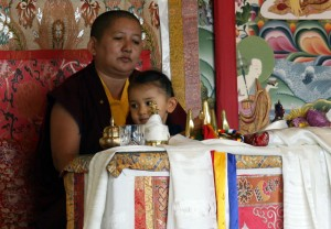 Jetsün Rinpoche and Jetsün Khandro Rinpoche during the closing ceremony for Annual Retreat.