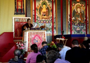 Jetsün Khandro Rinpoche teaching during the Annual Retreat 2015.