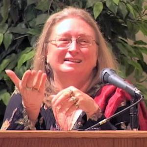 Lopön Rita giving a lecture.