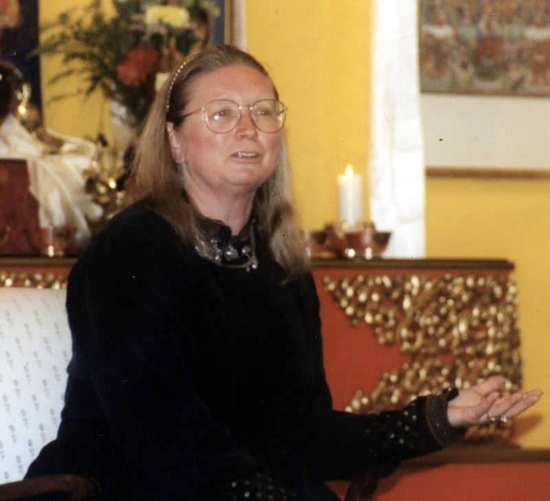 Lopön Rita teaching at a Shambhala Center in 2008.