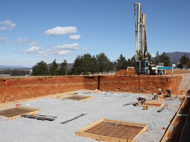 View of the construction site.