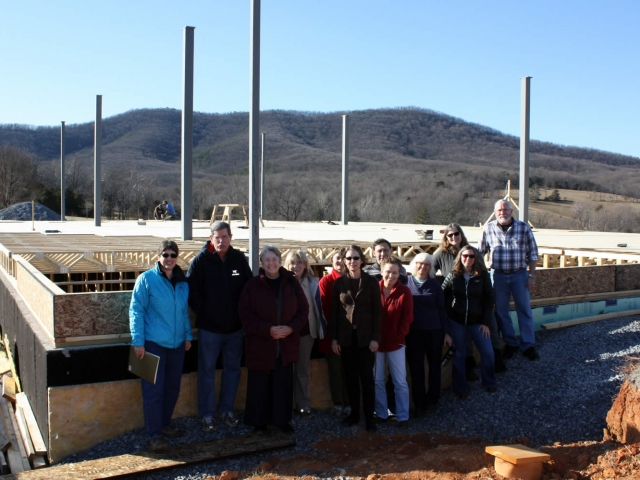DECEMBER 22—Sangha members participating in the Winter Retreat visit the site.