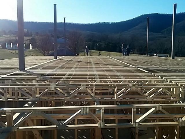 First floor joist iInstallation completed on December 22, 2016
