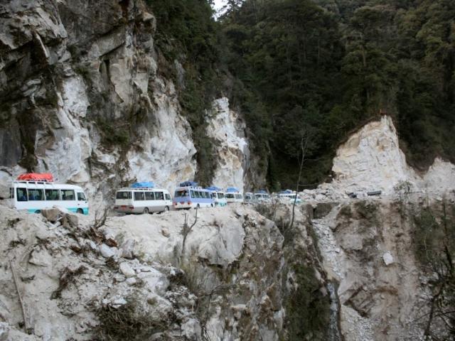 Pilgrimage caravan. Bhutan, March 2016