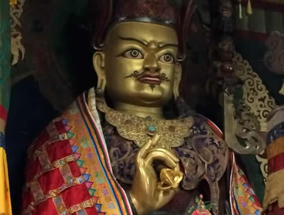 Longchenpa statue in the Tarpaling Shrine Room. Bhutan, March 2016.