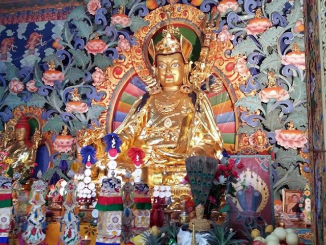 Guru Rinpoche statue. Bhutan, March 2016.