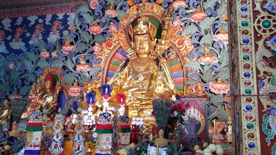 Guru Rinpoche statue. Bhutan, March 2016.