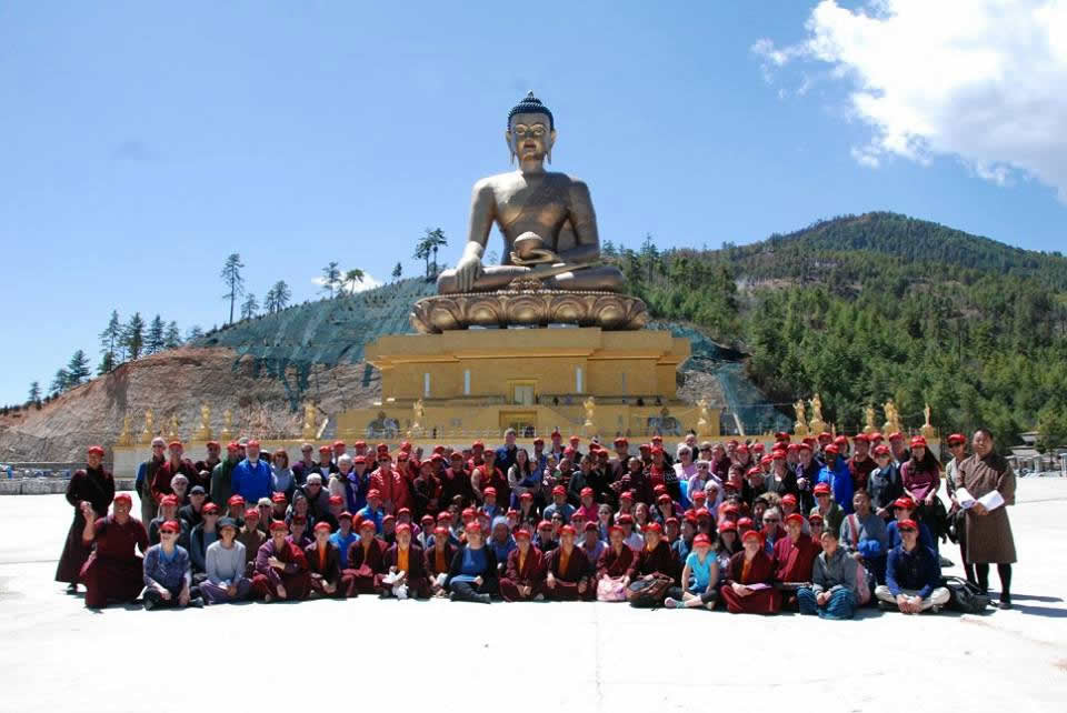 At the site of the great Shakyamuni Buddha statue at Thimpu. Bhutan, 2016.