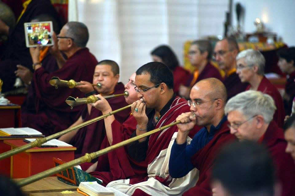 Musicians during the sadhana. October 2016.