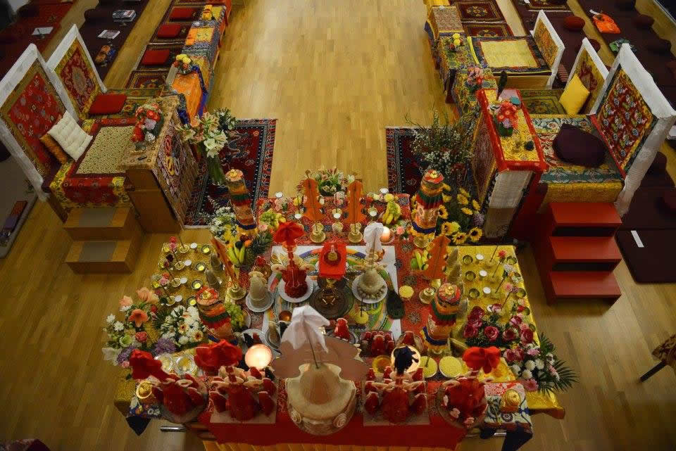 Vajrasattva Shrine at the Mahasangha. October 2016