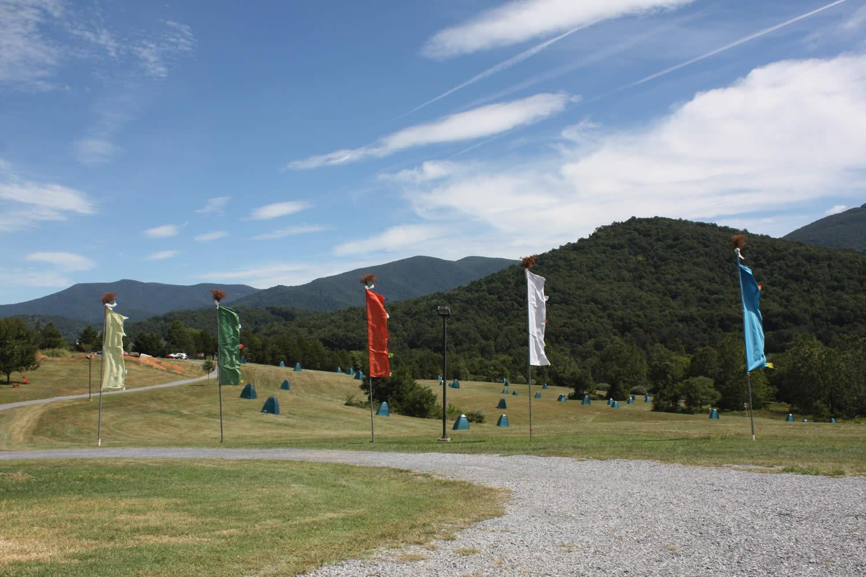 View of the retreat Gar during the Vajrayana Retreat, 2016.