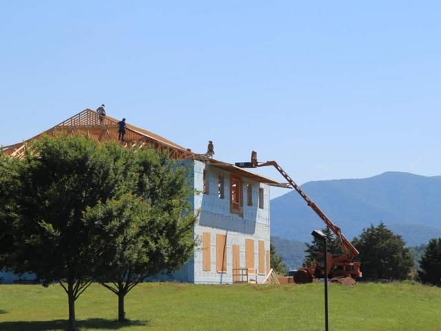 JUNE 20-Roof sheeting begins
