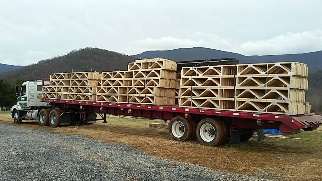 DECEMBER 12--First floor joists are delivered.