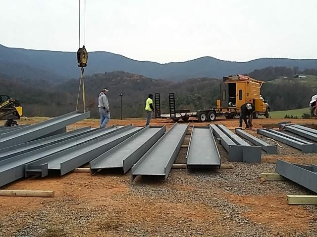 NOVEMBER 28--Steel beams.