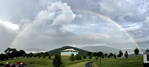 Rainbow over the new temple
