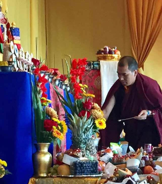Ven. Lama Thrinley Gyaltsen during Rigdzin Thugthig tshog bum