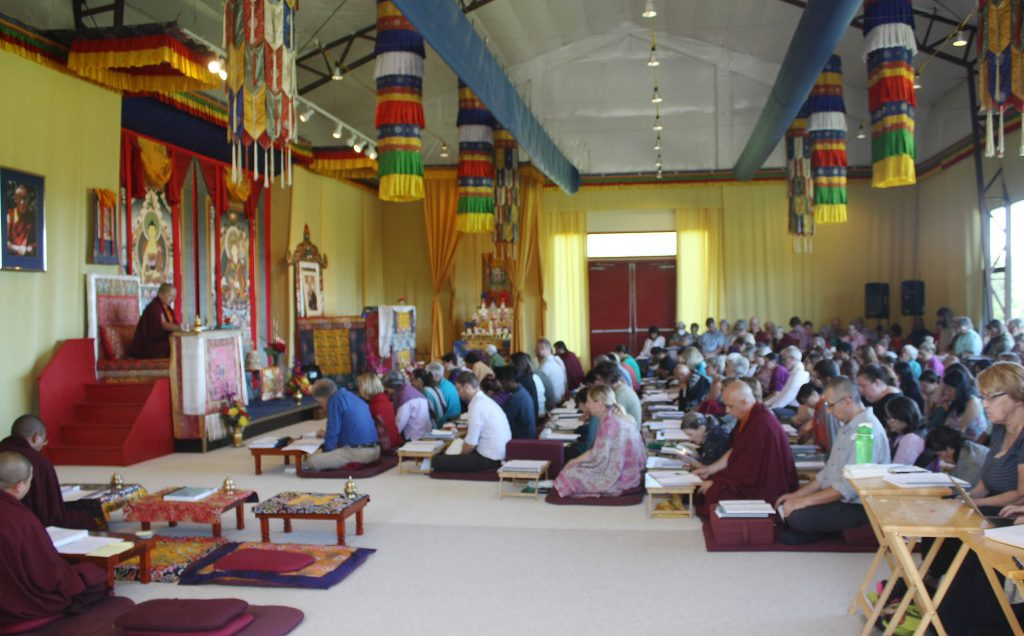 Jetsün Khandro Rinpoche teaching at Lotus Garden 2017