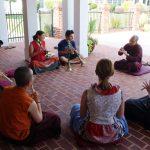 Ven. Thrinley Gyaltsen during instrument class