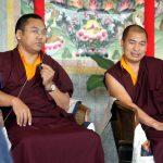 Ven. Acarya Namdrol Gyatso and Ven. Lama Thrinley Gyaltsen, Mindrol Lekshey teachers