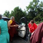 The arrival of Dzigar Kongtrul Rinpoche