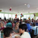 Sangha gathers for lunch