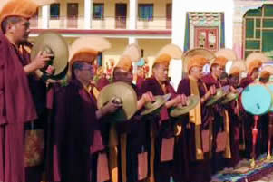 Mindrolling Monks during Shinje Drekjom Drubchen
