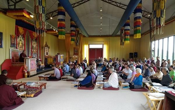 Her Eminence Mindrolling Jetsün Khandro Rinpoche teaching