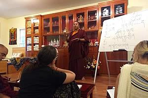 Khenpo Namdrol Gyatso la during Tibetan grammar class.