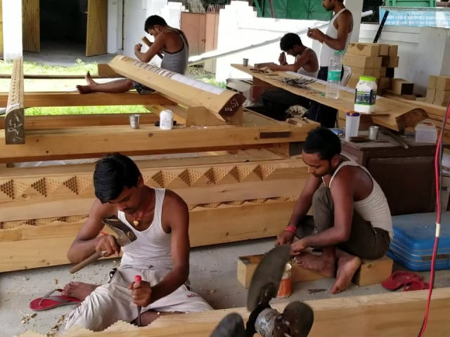 Carving Door Frames for the New Temple - Part 1