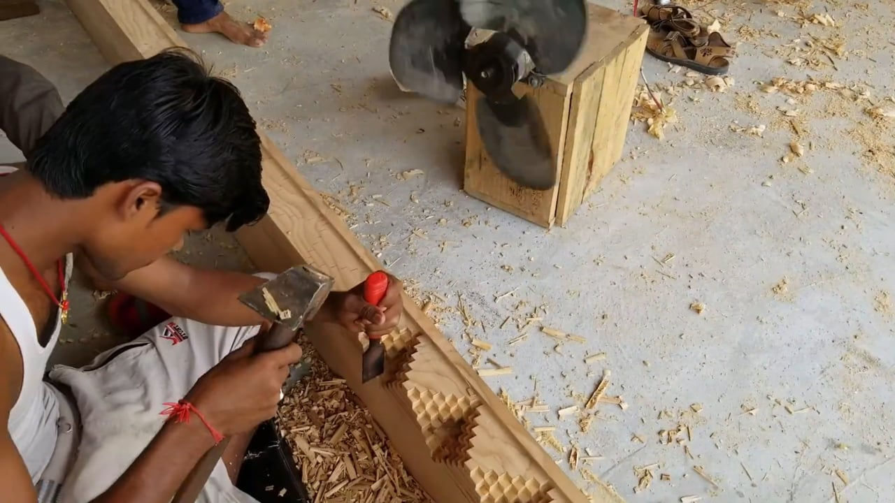 Carving Door Frames for the New Temple - Part 2