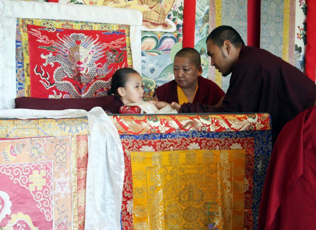 Jetsün Rinpoche with H.E. Mindrolling Jetsün Khandro Rinpoche and Ven. Tulku Ngawang Jigdral Kunga Rinpoche