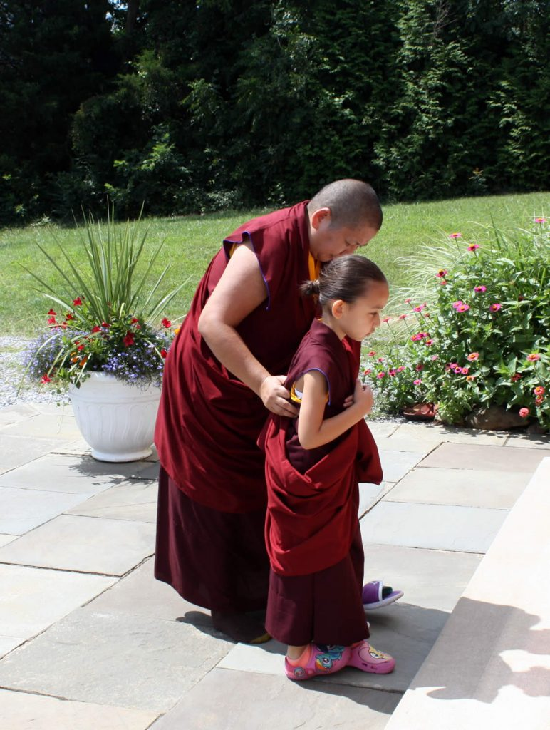 Her Eminence Mindrolling Jetsün Khandro Rinpoche with Minling Jetsün Rinpoche