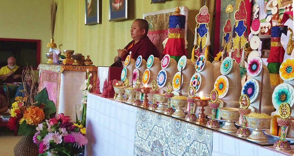H.E. Mindrolling Jetsün Khandro Rinpoche during Minling Dorsem Drubchö at Lotus Garden