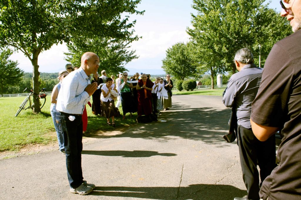 H.E. Dzigar Kongtrul Rinpoche says goodbye
