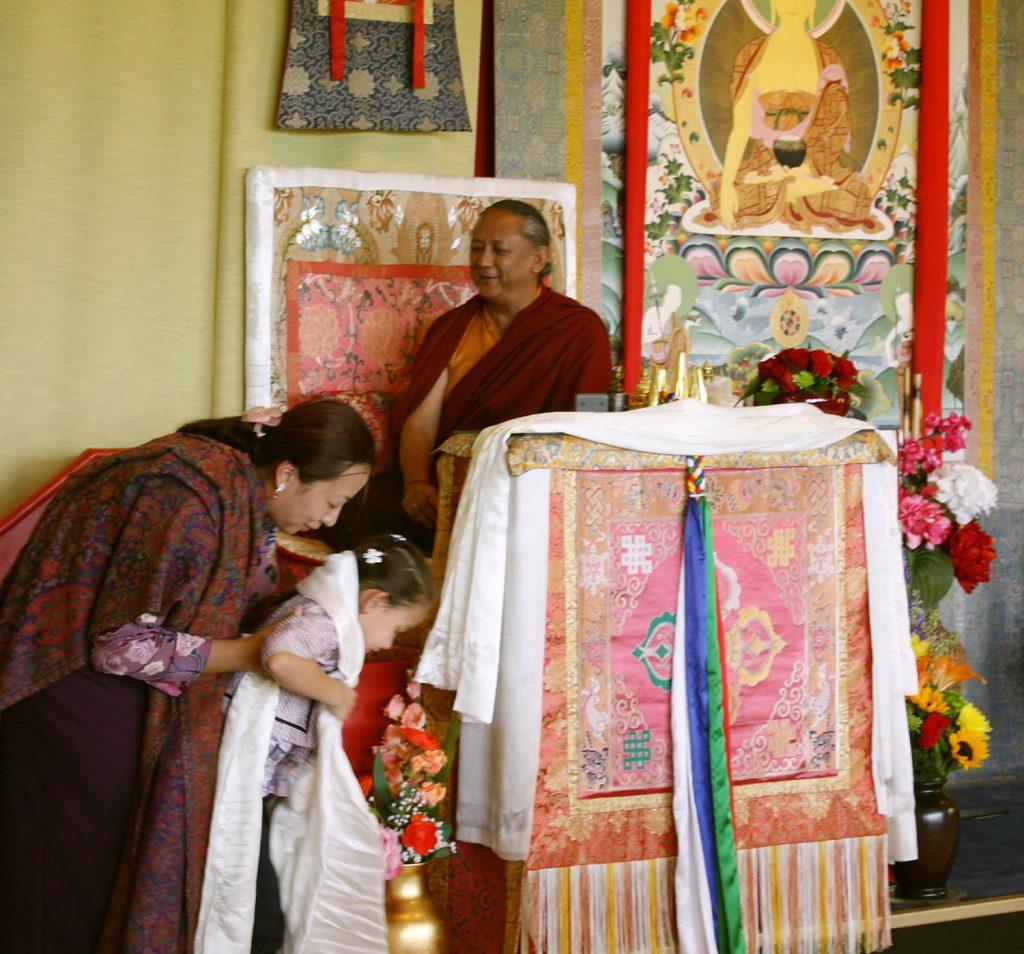 H.E. Dzigar Kongtrul Rinpoche with Minling Jetsün Dechen Paldron and Minling Jetsün Rinpoche