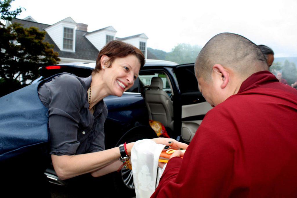 H.E. Jetsün Khandro Rinpoche welcomes Jennifer Shippee
