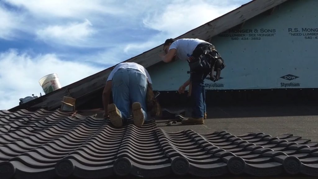 Temple Roof Tile Installation, September 2018
