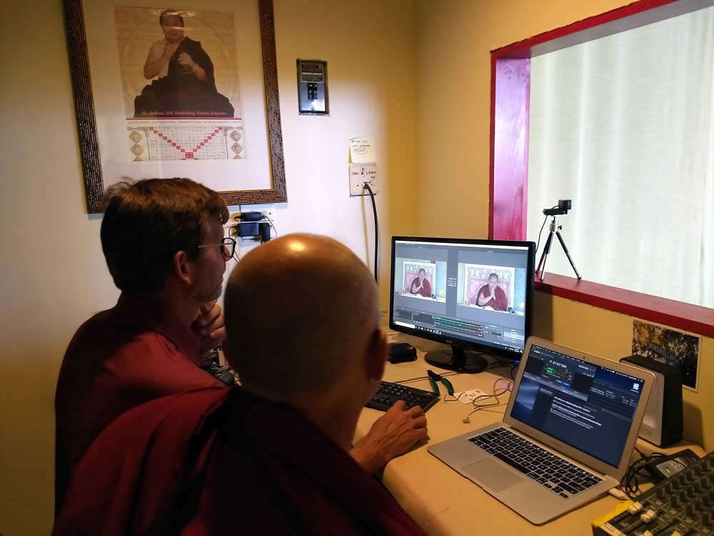 Recording Rinpoche's teachings