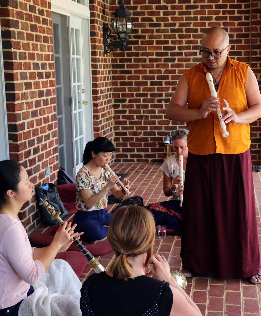 Ven. Lama Sonam Tobgay teaching the gyaling class.
