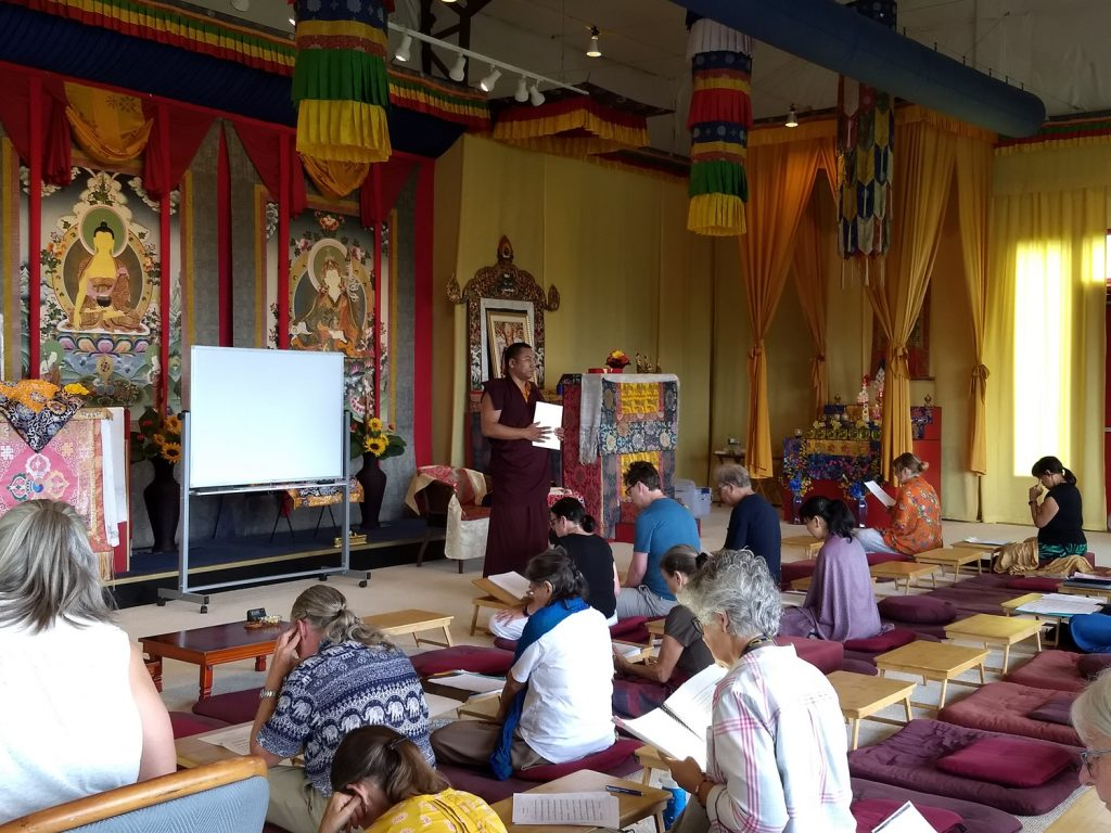 Ven. Khenpo Namdrol Gyatso with Tibetan language students