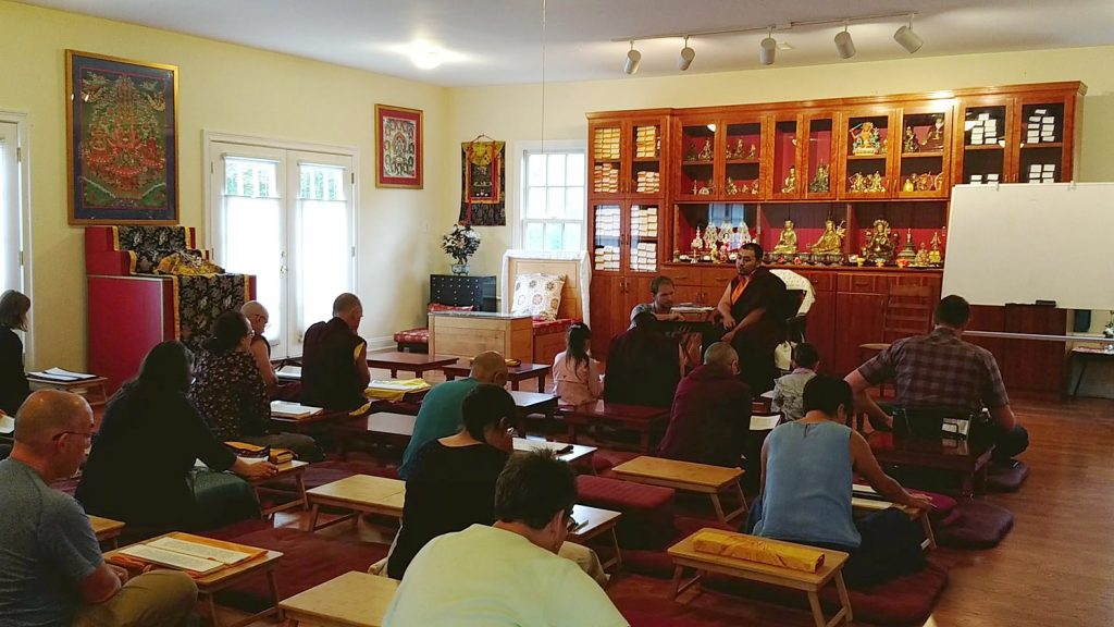 Ven. Choktrul Ngawang Jigdral Rinpoche teaching Tibetan language students