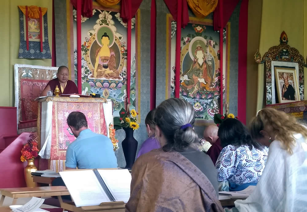 Rinpoche teaching during the Natural Ease program