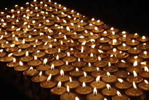 Butterlamps Offered to the Victims of the Australian Wildfires